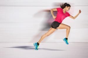 sport woman starting running. Speed effect.